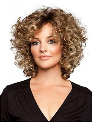 Voluminous Lace Front Remy Human Hair Curly Wig