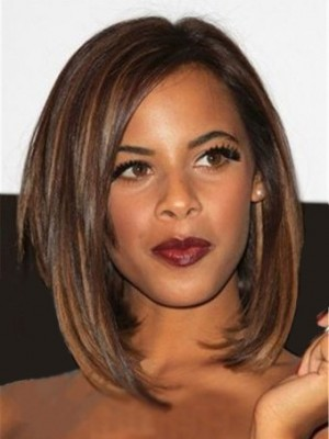 Stylish Lace Front Synthetic Straight African American Wig