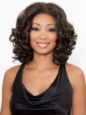 Beautiful Lace Front Synthetic Wavy African American Wig