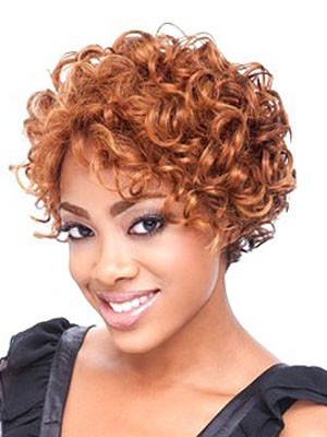 Shoulder Length Wavy Lace Front African American Wig
