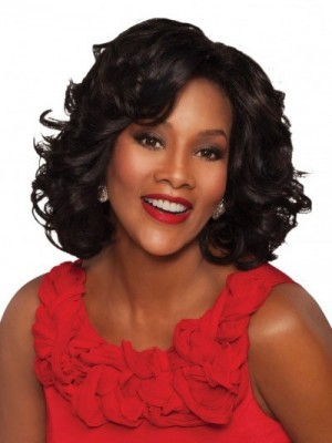 Good Looking Lace Front Synthetic Wavy African American Wig