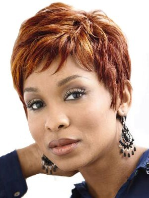 Prodigious Lace Front Synthetic Straight African American Wig