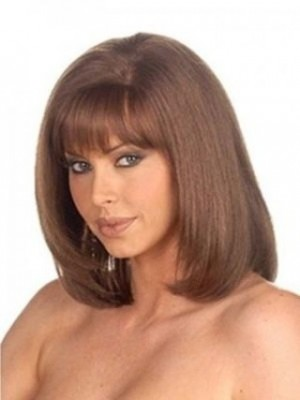 Modern Capless Remy Human Hair Straight African American Wig