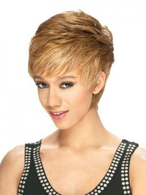 Impressive Short Straight Lace Front African American Wig