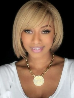Admirable Straight Remy Human Hair Capless African American Wig