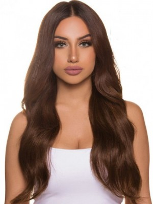 Gorgeous Wavy Remy Human Hair Lace Front African American Wig