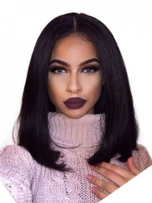 Glamorous Lace Front Synthetic Straight African American Wig