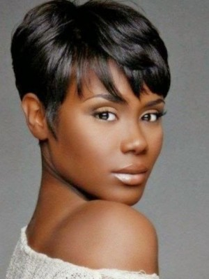 Durable Straight Synthetic Capless African American Wig