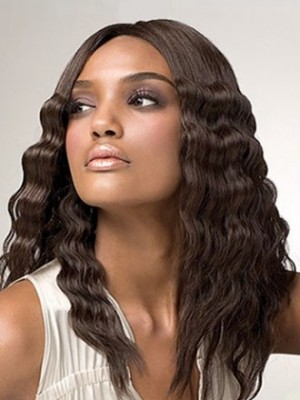 Natural Lace Front Synthetic African American Wavy Wig