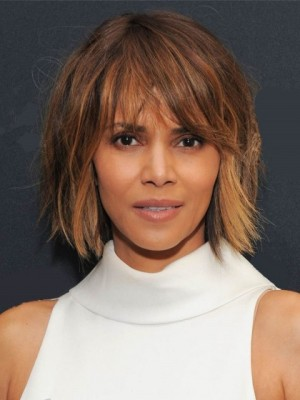 Charming Straight Capless African American Remy Human Hair Wig