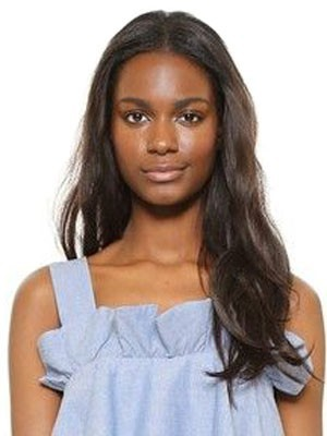 Beautiful Wavy Remy Human Hair Lace Front African American Wig