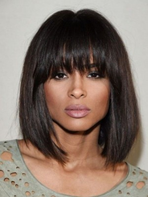 Durable Capless Synthetic African American Straight Wig