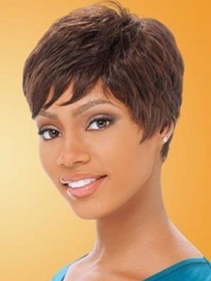 Nice Straight Lace Front African American Remy Human Hair Wig