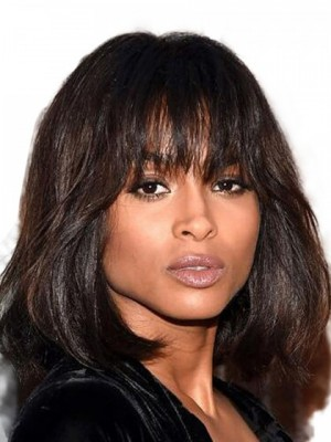 Magnificent Wavy Synthetic African American Capless Wig