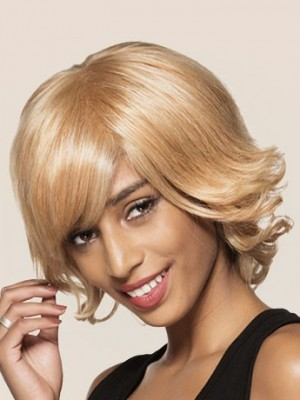 Most Popular Capless Synthetic Wavy African American Wig