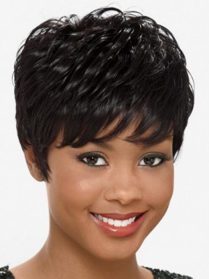 Affordable Synthetic Wavy Capless African American Wig