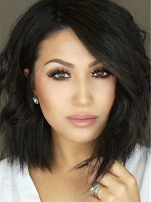 Brilliant Wavy Lace Front Remy Human Hair Wig