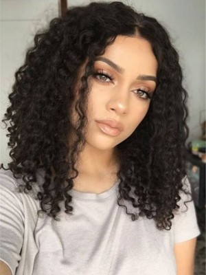 Pretty African American Curly Lace Front Synthetic Wig