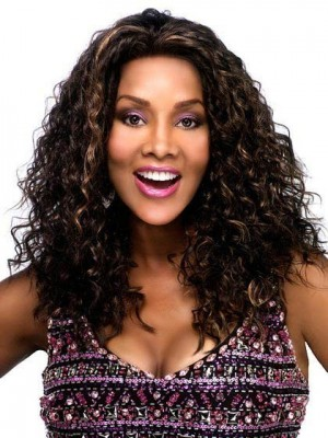Modern Long Wavy Synthetic Front Lace African American Wig