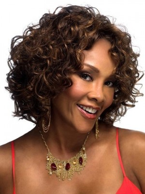 Loose Wavy Synthetic Lace Front African American Wig