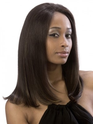 Flattering Silky Straight Lace Front African American Wig