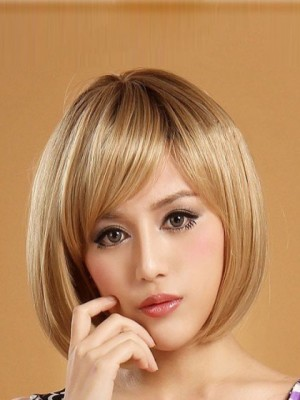 Bob Style Short Straight Lace Front Synthetic Wig