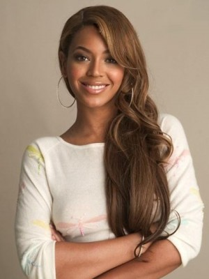 Beyonce Free Style Long Wavy Full Lace Celebrity Wig