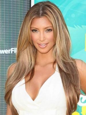 Kim Kardashian Centre Parting Straight Celebrity Wig