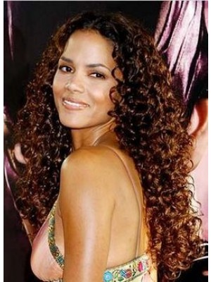 Halle Berry Remy Hair Curly Celebrity Wig