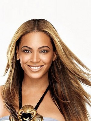 Stylish Beyonce Long Straight Synthetic Celebrity Wig
