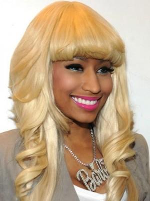 Nikki Minaji Famouse Lace Front Long Wavy Celebrity Wig