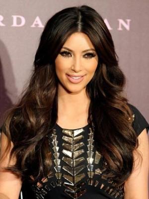 Kim Kardashian Centre Parting Wavy Celebrity Wig