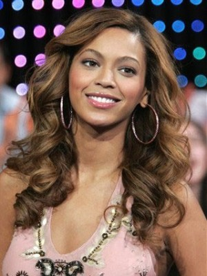 Beyonce Long Roller Set Curls Synthetic Celebrity Wig
