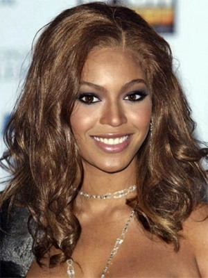 Beyonce Medium Wavy Synthetic Celebrity Wig