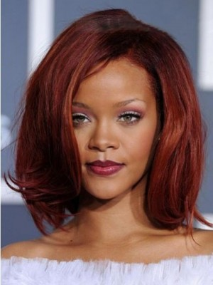 Rihanna Hairstyle Medium Straight Lace Front Celebrity Wig