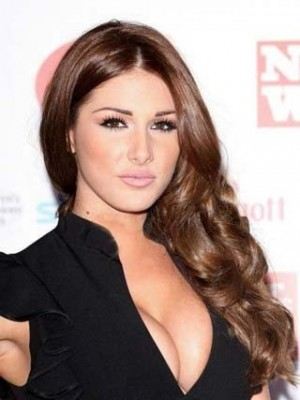 Lucy Pinder Stylish Long Wavy Lace Celebrity Wig