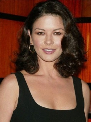 Catherine Zeta's Mid-length Wavy Lace Celebrity Wig
