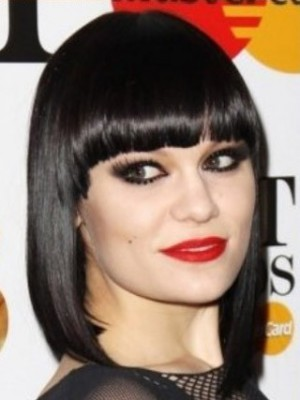 A Jessie J Style Top Quality Black Bob Celebrity Wig