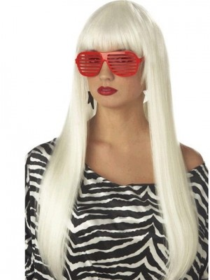 Lady Gaga Long Straight Capless Celebrity Wig
