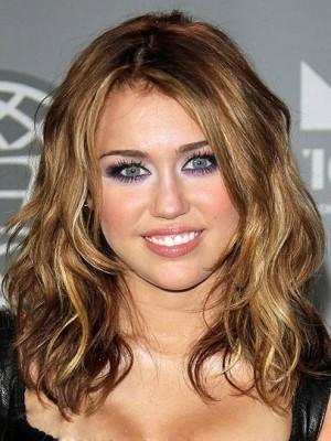 2014 Miley Cyrus Hair Capless Celebrity Wig