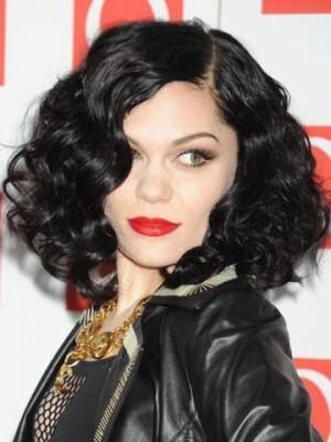 Jessie J Medium Synthetic Wavy Celebrity Wig
