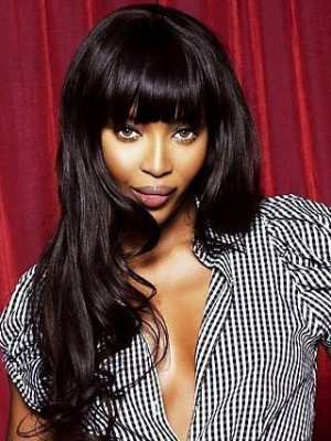 """Naomi Campbell 20"""" India Remy Hair Wavy Celebrity Celebrity Wig"""