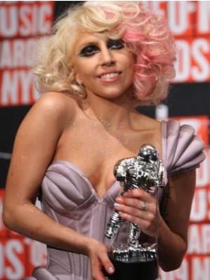 Lady Gaga Amazing Medium Wavy Capless Celebrity Wig