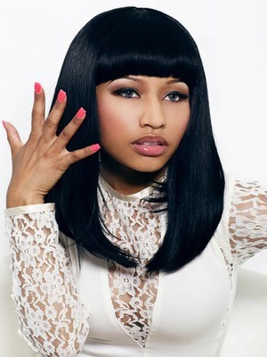 Nicki Freestyle Straight Synthetic Full Bangs Celebrity Wig