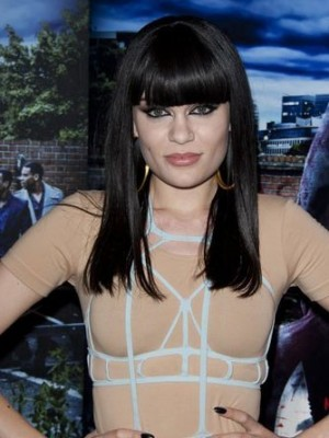 Jessie J Long Straight Style Synthetic Celebrity Wig