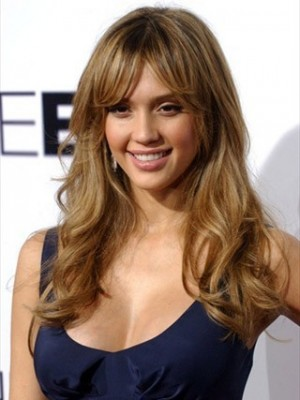 Jessica Alba Long Wavy Fashion Celebrity Wig