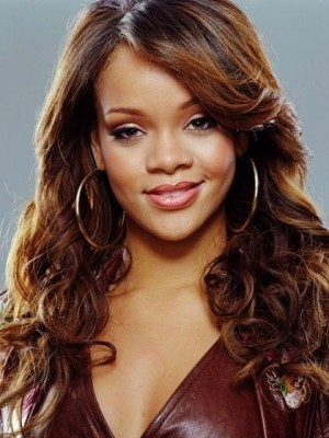 New Rihanna Wavy Celebrity Synthetic Celebrity Wig