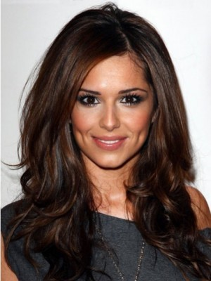 Cheryl Cole Long Wavy Human Hair Celebrity Wig