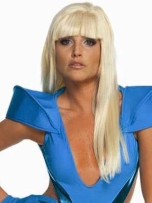 Lady Gaga Sexy Long Straight Capless Celebrity Wig