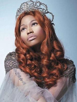 Long Length Nicki Minaj Wavy Brown Celebrity Wig